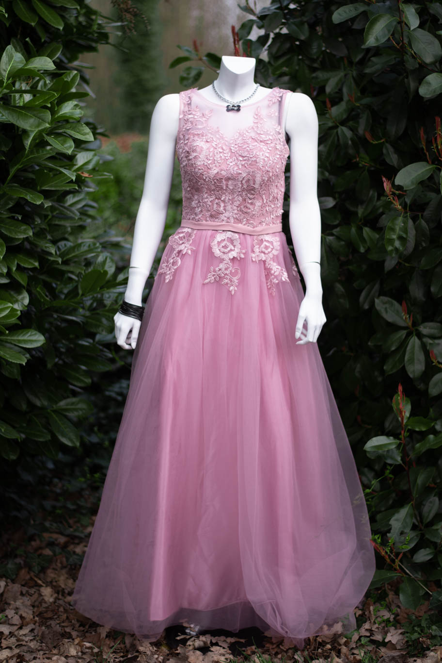Tüllkleid rose Gr. 34-38